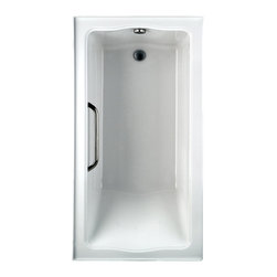 """Toto - Toto ABY782P Cotton White Clayton Tile-in Soaker 60"""" x 32"""" x 24-1/2"""" - Toto ABY782P#01N3 is a rectangular acrylic soaking bath with tiling flange in the Clayton Collection of Toto USA products. The deep bathing well adds to the large size of the airbath with dimensions of 60"""" x 32"""" x 24 1/2"""" for a more luxurious bathing experience. The Toto ABY782P#01N3 is built from durable cast Acrylic for long lasting looks and function and has an anti-slip surface for safety with left hand drain. The Toto ABA781P#01N3 is Cotton White."""