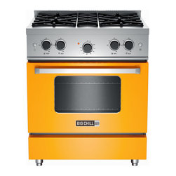 Big Chill Pro Range in Sunflower Yellow - Stainless Steel Construction