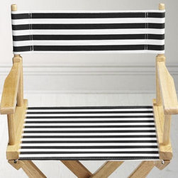 Home Decorators Collection - Director's Chair Striped Canvas Seat and Back - Available in a range of colors, our striped canvas seat and back will transform the look of your director's chair. Have a little fun with your chair and transform its look with stripes to complement the your home's dcor. Update your game room furniture now; order yours today. Made of cotton canvas to transform a Director's Chair with ease. Replacement seat and back will initially be tight; canvas will stretch over time. Wooden frame not included.