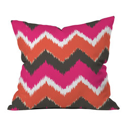 DENY Designs - Andrea Victoria Summer Tango Chevron Throw Pillow - Wanna transform a serious room into a fun, inviting space? Looking to complete a room full of solids with a unique print? Need to add a pop of color to your dull, lackluster space? Accomplish all of the above with one simple, yet powerful home accessory we like to call the DENY throw pillow collection! Custom printed in the USA for every order.
