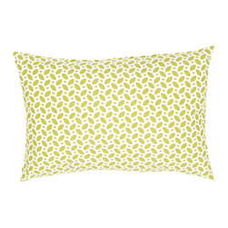 """Jaipur Rugs - Green/Ivory color polyester odl little hipster poly fill pillow 13""""x18"""" - These fashion forward pillows, in trellis, stripes and whimsical patterns are for both indoor and outdoor use."""