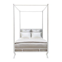 Oly Studio Faline Bed - Recently on Million Dollar Decorators, Martyn Lawrence Bullard had a bed custom made in faux ivory. This bed from Oly is an investment, but it's a million-dollar look for a lot less.