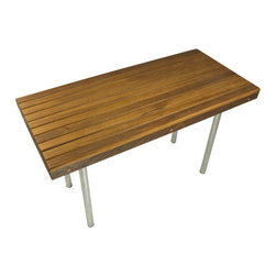 """Teakworks4u - Teak Bench with Stainless Steel Legs (48"""" x 18"""") - The Teak Commerical bench is made with high quality teak and utlizes stainless steel legs. The bench is perfect for any commerical setting where you need a strong bench, but also the elegance of teak."""