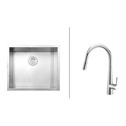 Ruvati - Ruvati RVC2592 Stainless Steel Kitchen Sink and Chrome Faucet Set - Ruvati sink and faucet combos are designed with you in mind. We have packaged one of our premium 16 gauge stainless steel sinks with one of our luxury faucets to give you the perfect combination of form and function.