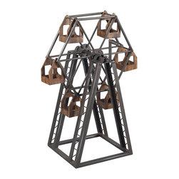 Sterling Industries - Sterling Industries 138-008 Bradworth-Industrial Ferris Wheel Candle Holder - Candle Holder (1)