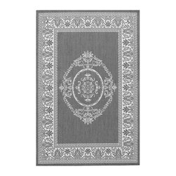 COURISTAN INC - Grey/ White Recife Rug (3'9 x 5'5) - Add a stylish touch to your decor with this grey and white rug. This all-weather, pet-friendly rug is perfect for both indoor and outdoor use.