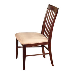 Atlantic Furniture - Atlantic Furniture Montreal Oatmeal Fabric Side Chair (Set of 2)-Antique Walnut - Atlantic Furniture - Dining Chairs - AD774104 - The Atlantic Furniture Montreal Dining Side Chairs are constructed from Eco-friendly solid hardwood and have an elegant wood finish. This set of two dining side chairs feature a vertical slat back design and an Oatmeal colored seat cushion. The Montreal Dining Side Chairs are perfect for a casual dining room setting.