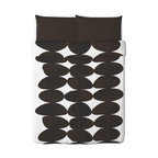 KAJSA STEN Duvet cover and pillowcase(s) - Duvet cover and pillowcase(s), brown, black