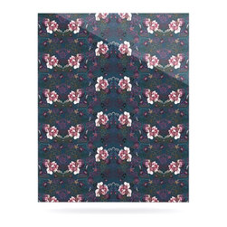 """Kess InHouse - DLKG Design """"Cool Stitch"""" Purple Navy Metal Luxe Panel (24"""" x 36"""") - Our luxe KESS InHouse art panels are the perfect addition to your super fab living room, dining room, bedroom or bathroom. Heck, we have customers that have them in their sunrooms. These items are the art equivalent to flat screens. They offer a bright splash of color in a sleek and elegant way. They are available in square and rectangle sizes. Comes with a shadow mount for an even sleeker finish. By infusing the dyes of the artwork directly onto specially coated metal panels, the artwork is extremely durable and will showcase the exceptional detail. Use them together to make large art installations or showcase them individually. Our KESS InHouse Art Panels will jump off your walls. We can't wait to see what our interior design savvy clients will come up with next."""