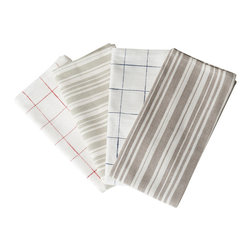 Nantucket Looms - Nantucket Looms Napkins, Red Check - Bring the freshness of sunlit mornings and sea air to your table while adding a note of timeless elegance to your place settings.