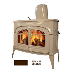 Vermont Castings - Vermont Castings 1447 Encore Non-Catalytic Wood Stove - Majestic 0001447--Encore NC Wood Stove - Majolica Brown Enamel