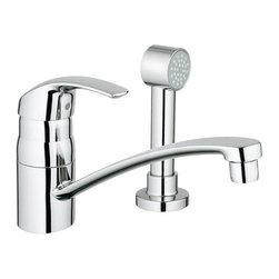 Grohe - Grohe Eurosmart Single Lever Kitchen Faucet with Side Spray (31 134 001) - Grohe 31 134 001 Eurosmart Single Lever Kitchen Faucet with Side Spray, StarLight Chrome