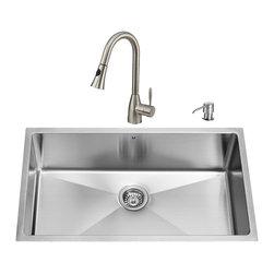 VIGO Industries - VIGO Undermount Stainless Steel Kitchen Sink, Faucet and Dispenser - VIGO delivers top quality and unique design. Every detail is important Zero radius corners