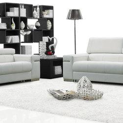 J&M Furniture - J&M Furniture Soho 2 Piece Living Room Set in White Leather - J&M Furniture Soho 2 Piece Living Room Set in White Leather