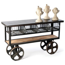 Eclectic Kitchen Islands And Kitchen Carts by Zin Home