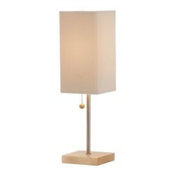 Adesso - Adesso Angelina Table Lamp, Natural - 3327-12 - Accent table lamp has a square natural wood base