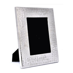 "Concepts Life - Concepts Life Photo Frame  Hammered Metal  Solstice Collection  10"" - Add a modern feel to your photographs with our hammered metal photo frame. Elegant, textured and with just the right amount of masculinity for any contemporary space.  Hammered metal frame Beautiful lines with an understated glossy finish Comes in alternative size (sold seperately) Dimensions: 8""l x .5""d x 10""h Wipe clean Imported"