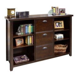 Kathy Ireland Home by Martin - Three Drawer File/Bookcase - TLC504 - Dimensions