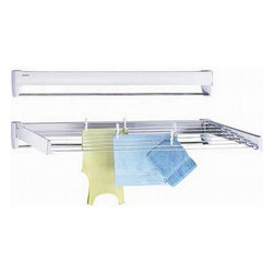 Leifheit 83250 Leifheit Telegant 70 White Wall Mounted Telescoping Laundry Cloth - Item #: 13952365