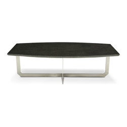 Blend Concrete Studio - Ally Concrete Coffee Table - Modern concrete coffee table, one of our collection SKIN. Made with concrete and the texture of alligator finish make this table unique and modern. The base is made of stainless steel.