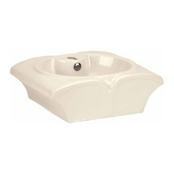 The Renovators Supply - Vessel Sinks Bone Horseshoe Crab Vessel Sink | 15483 - Vessel Sinks Above Counter: Made of Grade A vitreous China these sinks easily endure daily wear and tear. Our protective RENO-GLOSS finish resists common household stains and makes it an EASY CLEAN wipe-off surface. Ergonomic and elegant easy reach design reduces daily strain placed on your body. SPACE-SAVING design maximizes limited bathroom space. Easy, above counter installation let's you select from many countertop designs, sold separately. Measures 20 5/8 inch W x 16 3/4 inch projection