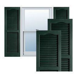 """Alpha Systems LLC - 14"""" x 25"""" Builders Choice Vinyl Open Louver Shutters,w/Screws, Pine Green - Our Builders Choice Vinyl Shutters are the perfect choice for inexpensively updating your home. With a solid wood look, wide color selection, and incomparable performance, exterior vinyl shutters are an ideal way to add beauty and charm to any home exterior. Everything is included with your vinyl shutter shipment. Color matching shutter screws and a beautiful new set of vinyl shutters."""