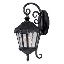 Maxim Lighting - Maxim Lighting Garden VX Traditional Outdoor Wall Sconce X-BOGW37204 - Experience the smooth elegance of antique style with the Garden VX Traditional Outdoor Wall Sconce. The Vivex material is twice the strength of resin, so it won't pit, corrode, or tarnish. The detailed styling makes this a sleek addition to your porch, patio, or garden. The oriental bronze glass reflects the friendly glow of gorgeous water glass, so your friends and neighbors will appreciate the sleek sophistication.