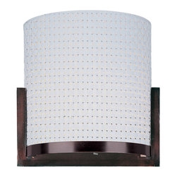 ET2 Contemporary Lighting - ET2 Contemporary Lighting E95088-100OI Elements 2 Light Wall Sconces in Oil Rubb - The Elements collection offers the freedom of choice in lighting design. Start with the style selection - pendant, mini pendant, or wall sconce - then choose the right shape, square or circular, for the space. Wrap the selected Oil Rubbed Bronze or Satin Nickel lamp in one of five color options that will make just the right statement: Grass Cloth, White Weave, White Pleat, Crimson or Satin White. Finally, choose the perfect light source for the task. Whether fluorescent, xenon, or incandescent, this collection brings together all the right elements.