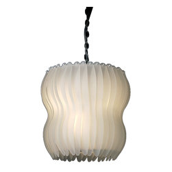 Trend Lighting - Aphrodite 8-Light Chandelier - This shapely light is a real stunner. With this modern chandelier illuminating your home, you'll wonder how you ever lived without its ethereal glow. Snowy glass panels and polished chrome accents combine to give this light the refined look your room needs.