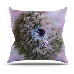 """Kess InHouse - Alison Coxon """"Dandelion Clock"""" Throw Pillow (Outdoor, 18"""" x 18"""") - Decorate your backyard, patio or even take it on a picnic with the Kess Inhouse outdoor throw pillow! Complete your backyard by adding unique artwork, patterns, illustrations and colors! Be the envy of your neighbors and friends with this long lasting outdoor artistic and innovative pillow. These pillows are printed on both sides for added pizzazz!"""