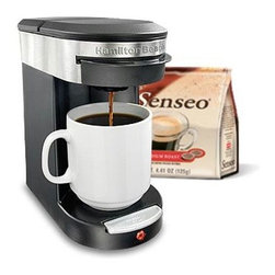 Hamilton Beach - One Cup Pod Brewer - Brew up to a 12 oz. cup with this Hamilton Beach One Cup Pod Brewer. Uses Senseo coffee pods and makes fresh coffee fast. Great for home, office and dormitory. Brew basket is dishwasher safe. It features one-touch start with auto shutoff.