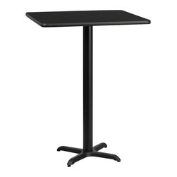 Flash Furniture - Flash Furniture 24 Inch Square Bar Table - Complete your restaurant, break room or cafeteria with this reversible table top. The reversible laminate top  features two different laminate finishes. This table top  is designed for commercial use so you will be assured it will withstand the daily rigors in the hospitality industry. [XU-MBT-2424-GG]