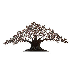 Benzara - Metal Wall Tree Decor For Special Liking For Nature - Wall decor with great nature sense. Support your existing wall decor with 72270 Metal WALL TREE DECOR. It is an excellent anytime low priced wall decor upgrade option with great utility for everyone. Just have a look over, you will fall in instant love with its beauty.