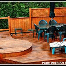 Contemporary Patio by Patio Deck-Art