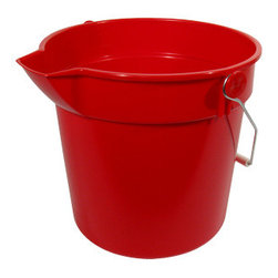 10 Quart Multi Purpose Bucket - I love this cute red pail because of it's squared spout and vibrant color. It's perfect for every day chores such as washing your car or floor, or even for hauling salt out to the driveway during the winter.