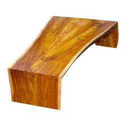 Single Slab Coffee Table - Made from a single slab of reclaimed Vinhatico wood.