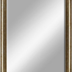 Paragon Decor - Beveled Mirror, Tarnished Silver, 24x36 - Mirror, Mirror, on the wall, who's the most beautiful mirror of them all? Reflect your impeccable taste with this contemporary-style mirror, which features a gorgeous tarnished silver-colored frame and high-quality interior beveled mirror. This piece measures 30 inches wide, 2 inches deep, and 42 inches high.