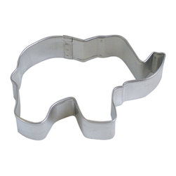 RM - Elephant 3 In. B1221X - Elephant cookie cutter, made of sturdy tin, Size 3 in., Depth 7/8 in., Color silver