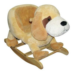 Fifthroom - Plush Digger the Dog Rocker - Digger provides a comfortable seat for even the tiniest toddlers.  His soft cover is easily cleaned with just a mild soap and water.