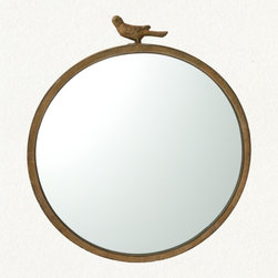 Antiqued Bird Mirror - I'm loving this vintage-inspired simple mirror with a whimsical bird perched atop. I'm envisioning it in my daughter's nursery, or if I'm feeling selfish, in my foyer. Complementary to a variety of aesthetics, this mirror would be at home in almost any space.