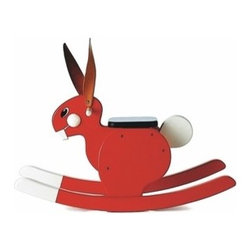 Playsam - Rocking Rabbit | Playsam - A playful rendition of the traditional rocking horse, this Rocking Rabbit is sure to win the race! Its creative design and glossy shine have earned this long-eared critter the Excellent Swedish Design seal of approval!