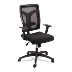 Safco - Safco Voice Series Task Chair, Mesh Back, Upholstered Seat, Black Seat/Back - Contoured back for optimal comfort. Modern back design will not only give your workspace a great look, but helps keep you cool throughout the workday. Upholstered seat for relaxed sitting. Blend these options together for a chair that perfectly reflects you.