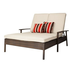 Threshold Rolston Wicker Patio Double Chaise Lounge - The perfect reading spot. Curl up with your loved one or stretch out by yourself — either way, you are sure to feel relaxed and pampered. It's perfect for spring and summer days.