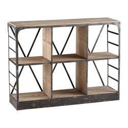 Joshua Marshal - Raw Iron / Natural Wood Newberg Storage Console - Raw Iron / Natural Wood Newberg Storage Console