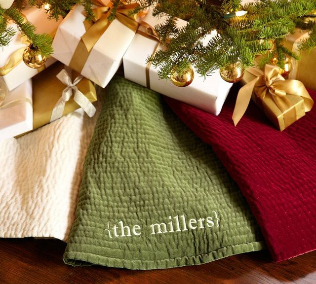 Traditional Christmas Tree Skirts by Pottery Barn
