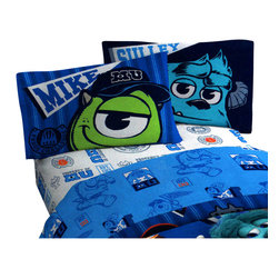 Jay Franco and Sons - Disney Monsters Inc Scare University 3 Pieces Twin Bed Sheet Set - Features: