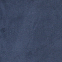 Blue Microsuede Suede Upholstery Fabric By The Yard - Our microsuede upholstery fabric will look great on any piece of furniture. This material is easy to clean and is very durable.