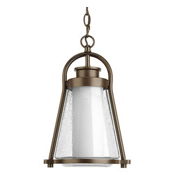 Progress Lighting - Progress Lighting P6505-20 1-Light Hanging Lantern with Clear Seeded Glass Shade - Progress Lighting P6505-20 1-Light Hanging Lantern with Clear Seeded Glass Shade