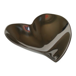 Small Pewter Heart Serving Bowl - A pewter tray, platter or serving bowl will bring a touch of elegance to your table or any space that you choose. Pewter offers the elegant look of silver without the bother of polishing and tarnishing. Hand wash only.