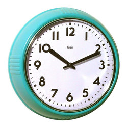 Bai School Wall Clock, Turquoise - This cool retro design comes in five killer colors; my favorite is turquoise. This little clock is a real keeper, especially because it's under $20.